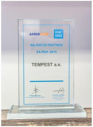 Ocenenie Partner roka 2015 spoločnosti EMC