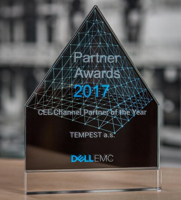 Ocenenie pre najlepšieho partnera Dell EMC